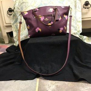 Coach plum floral prairie satchel